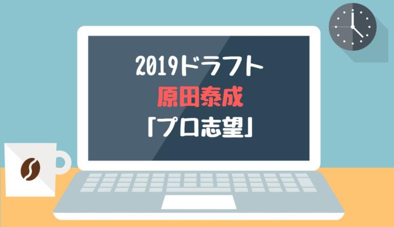 ドラフト2019候補 原田泰成(東海大)「プロ志望」【2018.12.23】