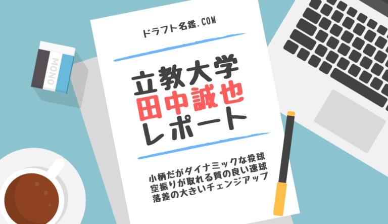 ドラフト 2019 候補 田中 誠也 立教 経歴 特徴 動画 スカウト評価