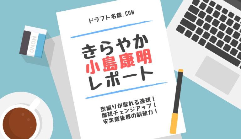 ドラフト 2019 小島 康明 きらやか 経歴 特徴 動画 スカウト 評価