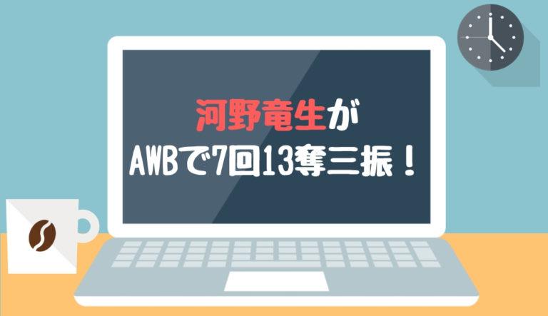 ドラフト 2019 河野竜生 台湾ウインターリーグ 7回13奪三振 快投 2018.11.30