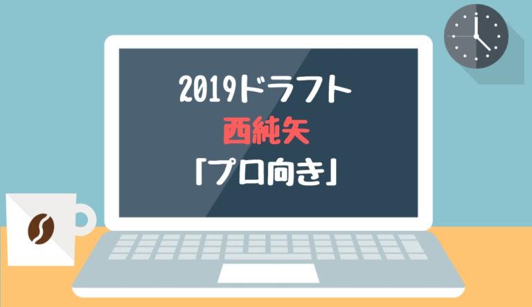 ドラフト2019候補 西純矢(創志学園)「プロ向き」