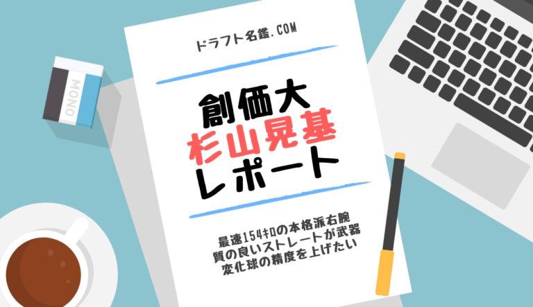 ドラフト2019候補 杉山晃基(創価大)指名予想・評価・動画・スカウト評価