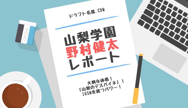 ドラフト2019候補 野村健太(山梨学園)指名予想・評価・動画・スカウト評価