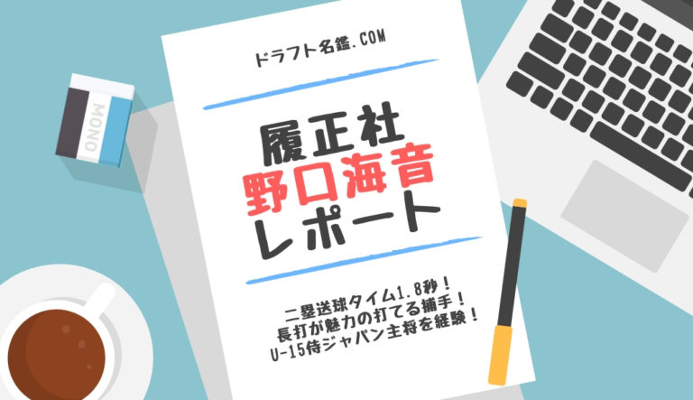 ドラフト2019候補 野口海音(履正社)指名予想・評価・動画・スカウト評価