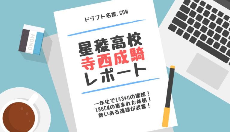 ドラフト2020候補 寺西成騎(星稜)指名予想・評価・動画・スカウト評価
