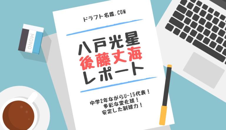 ドラフト2019候補 後藤丈海(八戸光星)指名予想・評価・動画・スカウト評価