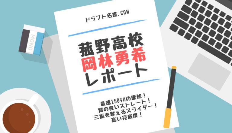ドラフト2019候補 岡林勇希(菰野)指名予想・評価・動画・スカウト評価