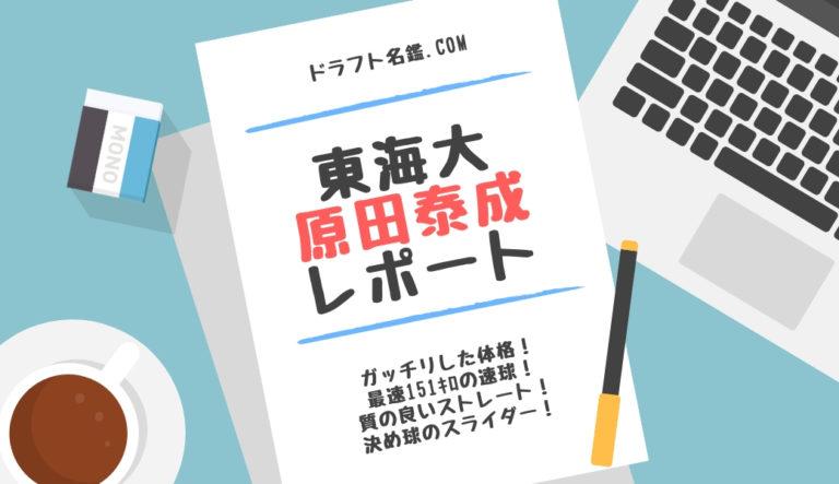 ドラフト2019候補 原田泰成(東海大)指名予想・評価・動画・スカウト評価