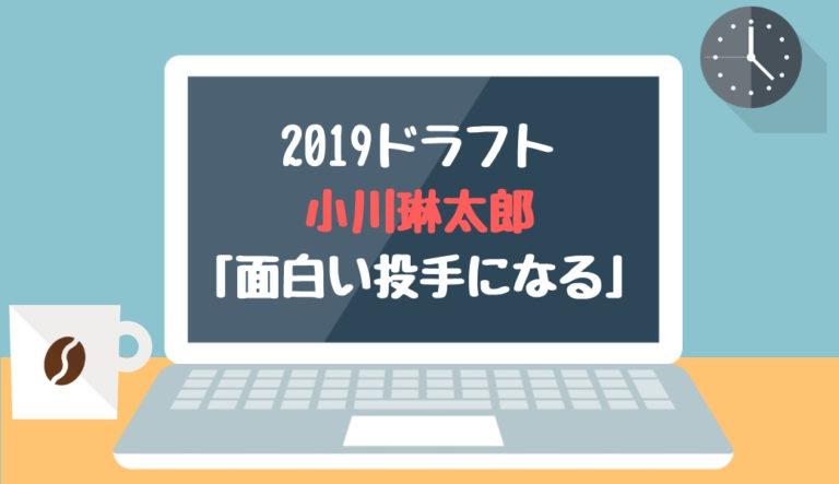 ドラフト2019候補 小川琳太郎(小松)「面白い投手になる」