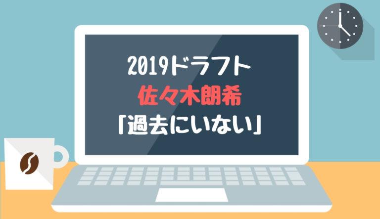 ドラフト2019候補 佐々木朗希(大船渡)「過去にいない」