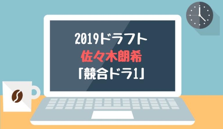 ドラフト2019候補 佐々木朗希(大船渡)「競合ドラ1」