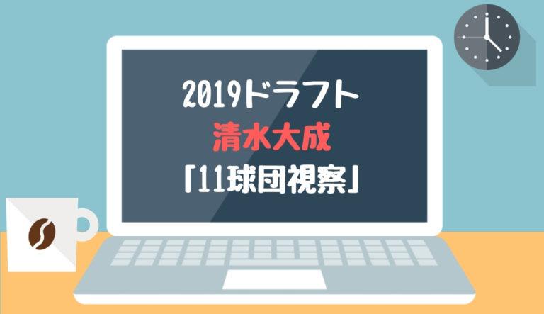 ドラフト2019候補 清水大成(履正社)「11球団視察」