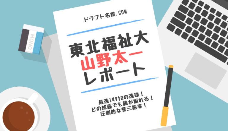 ドラフト2020候補 山野太一(東北福祉大)指名予想・評価・動画・スカウト評価