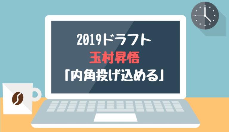 ドラフト2019候補 玉村昇悟(丹生)「内角投げ込める」