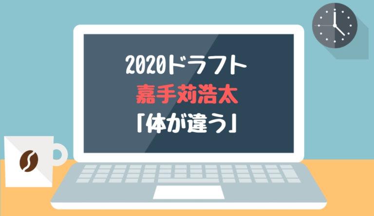 ドラフト2020候補 嘉手苅浩太(日本航空石川)「体が違う」