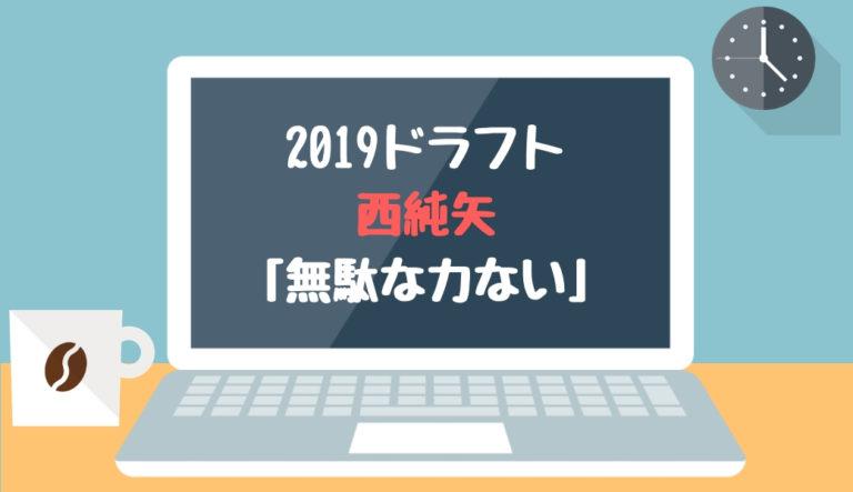 ドラフト2019候補 西純矢(創志学園)「無駄な力ない」