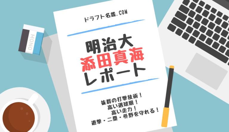 ドラフト2019候補 添田真海(明治大)指名予想・評価・動画・スカウト評価