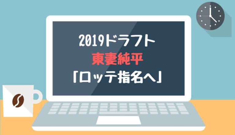 ドラフト2019候補 東妻純平(智辯和歌山)「ロッテ指名へ」