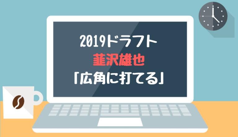 ドラフト2019候補 韮沢雄也(花咲徳栄)「広角に打てる」