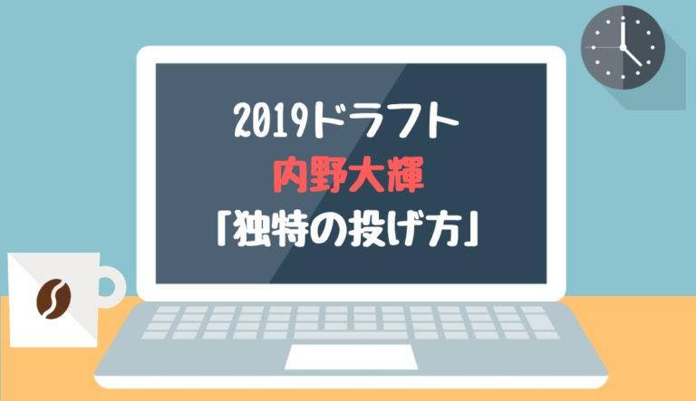 ドラフト2019候補 内野大輝(都東村山西)「独特の投げ方」
