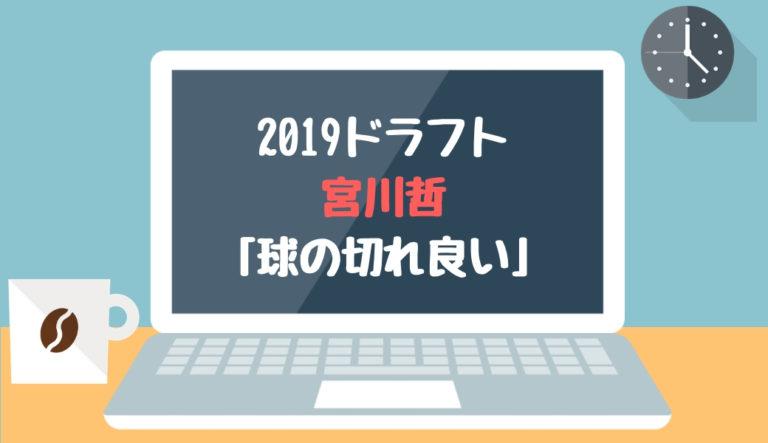 ドラフト2019候補 宮川哲(東芝)「球の切れ良い」