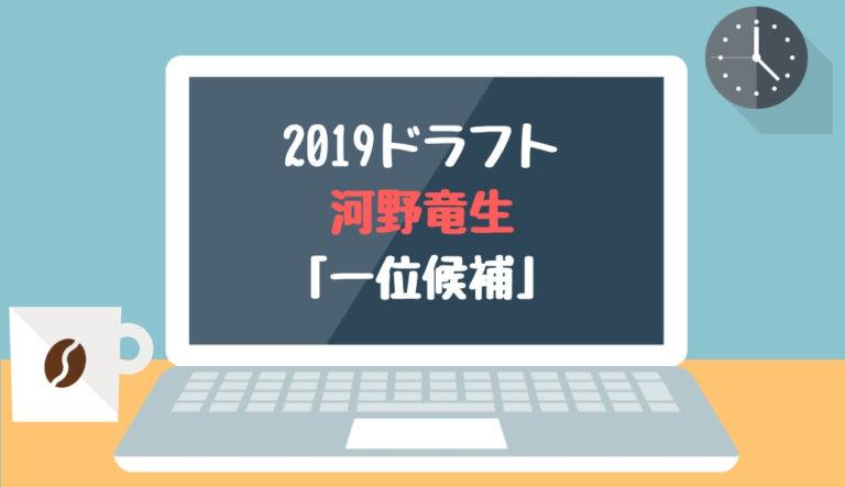 ドラフト2019候補 河野竜生(JFE西日本)「一位候補」