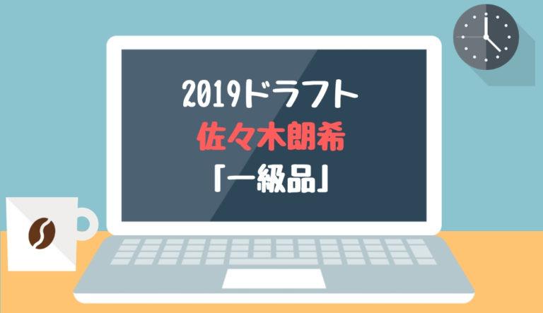 ドラフト2019候補 佐々木朗希(大船渡)「一級品」