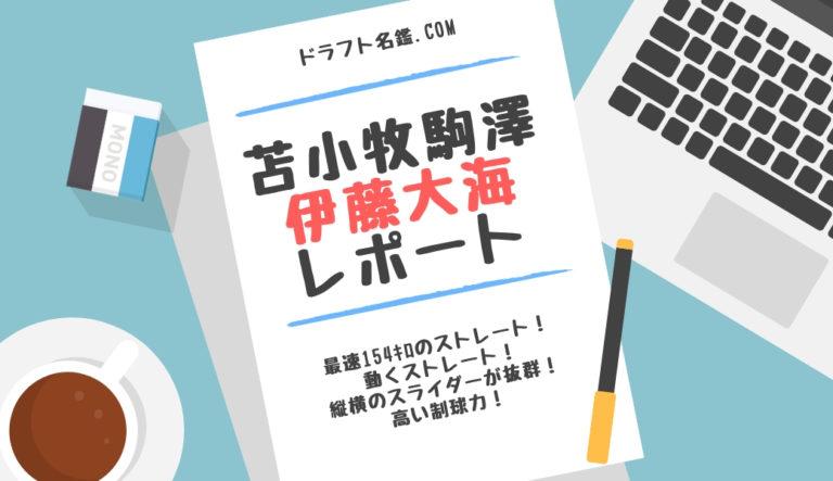 ドラフト2020候補 伊藤大海(苫小牧駒澤大)指名予想・評価・動画・スカウト評価