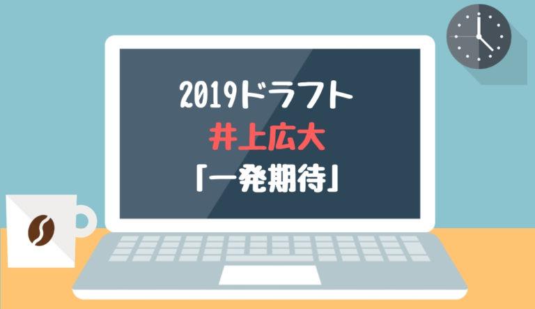 ドラフト2019候補 井上広大(履正社)「一発期待」