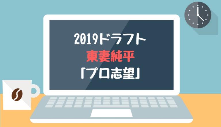 ドラフト2019候補 東妻純平(智辯和歌山)「プロ志望」
