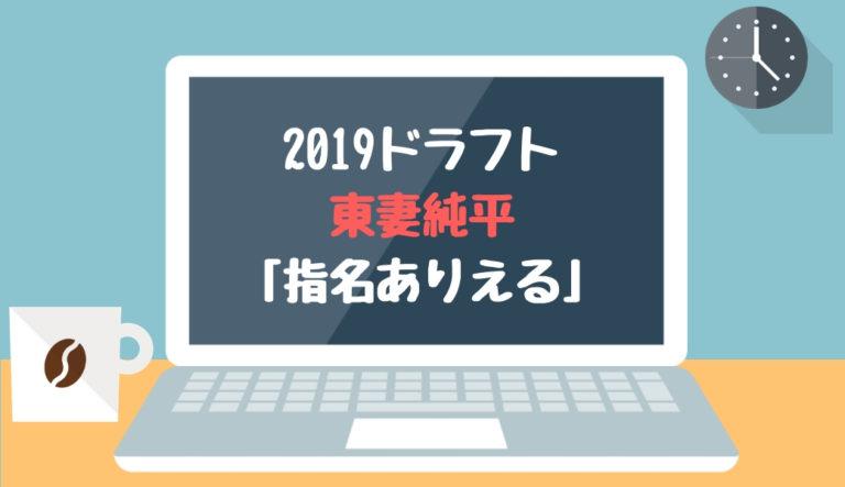 ドラフト2019候補 東妻純平(智弁和歌山)「ドラフト指名ありえる」