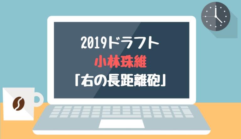 ドラフト2019候補 小林珠維(東海大札幌)「右の長距離砲」