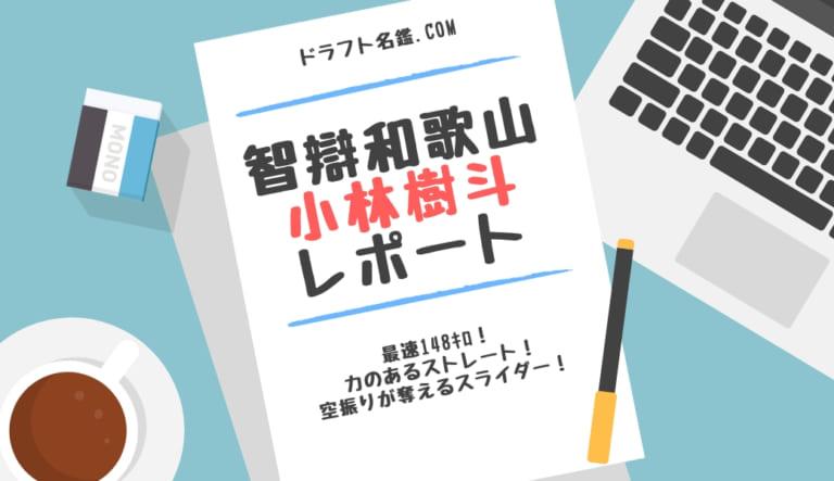小林樹斗(智辯和歌山)指名予想・評価・動画・スカウト評価