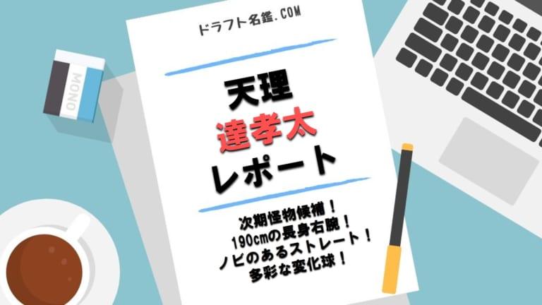 達孝太(天理)指名予想・評価・動画・スカウト評価