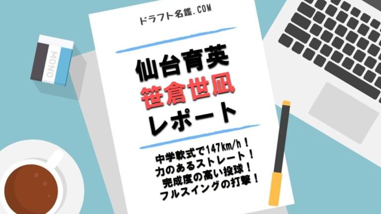 笹倉世凪(仙台育英)指名予想・評価・動画・スカウト評価