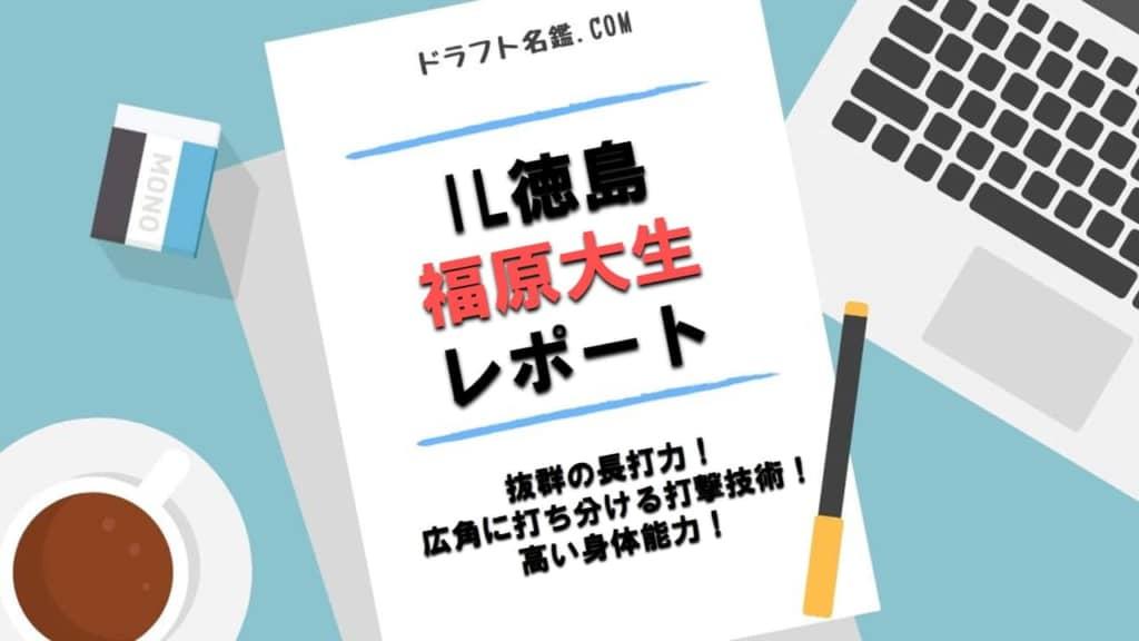 福原大生(IL徳島)指名予想・評価・動画・スカウト評価