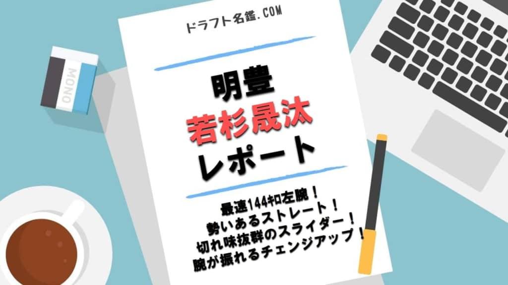 若杉晟汰(明豊)指名予想・評価・動画・スカウト評価
