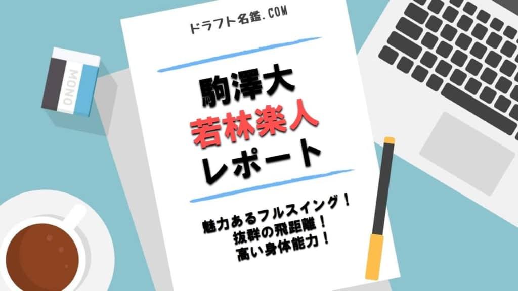 若林楽人(駒澤大)指名予想・評価・動画・スカウト評価