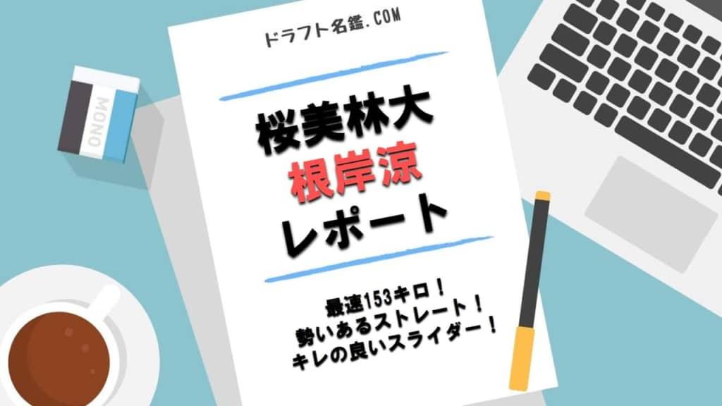 根岸涼(桜美林大)指名予想・評価・動画・スカウト評価