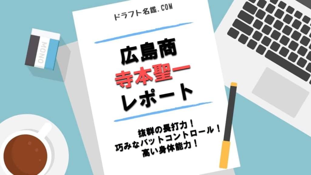 寺本聖一(広島商)指名予想・評価・動画・スカウト評価