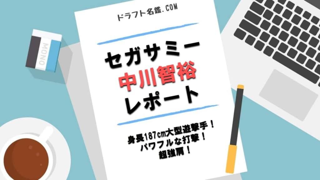 中川智裕(セガサミー)指名予想・評価・動画・スカウト評価