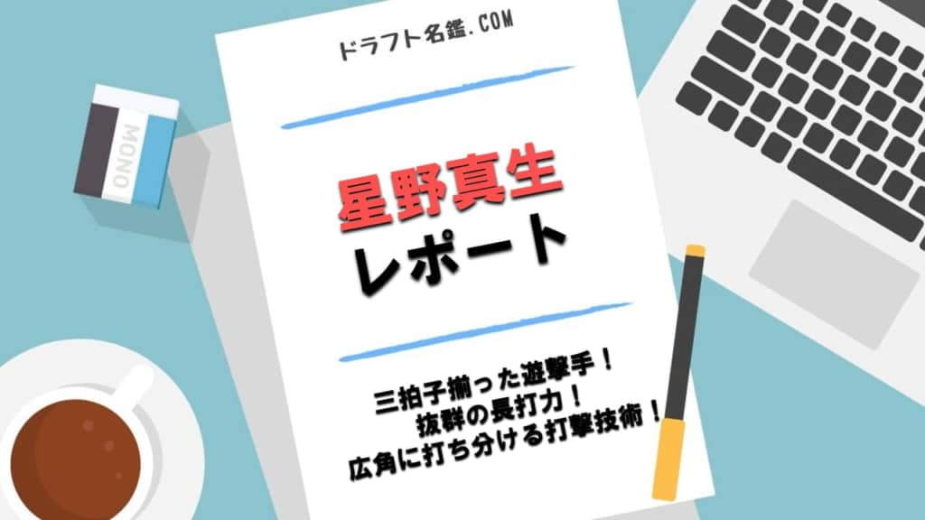 星野真生(豊橋中央)指名予想・評価・動画・スカウト評価