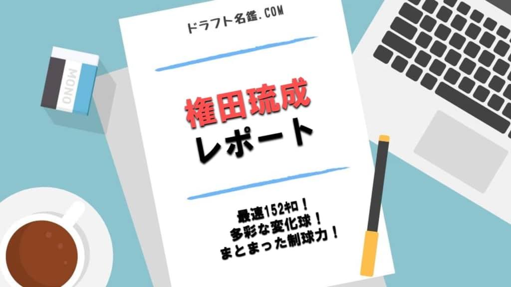 権田琉成(明星大)指名予想・評価・動画・スカウト評価